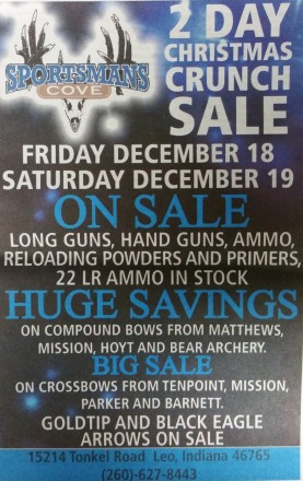 2 Day Christmas Crunch Sale